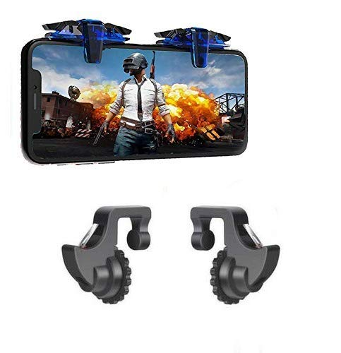 Roeid PUBG Gaming Trigger for PUBG Controller Game Fire Button Aim Key L1R1 Shooter Controller. with Black Mobile Game Controller Shooter Trigger Fire Button.Supports for All Android.