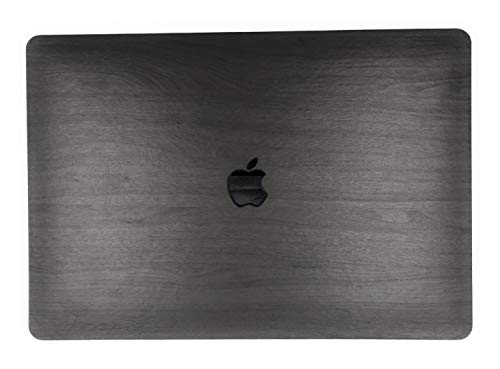 """24x7 eMall Rubberized Hard Shell Wood Design Cover Compatible Newest MacBook Pro 15"""" (2016-2019 Release) with/Without Touch Bar (15 Inch Pro, Walnut Dark Wood)"""