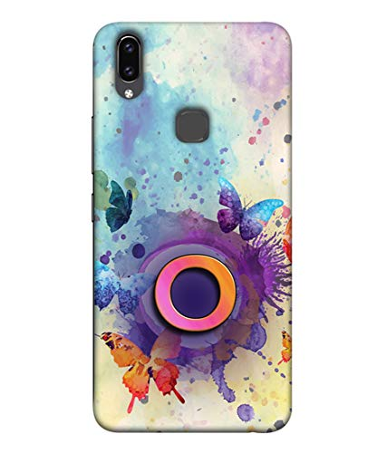 S SMARTY Beautiful Butterfly Printed Hard Case Mobile Back Cover for Vivo V9