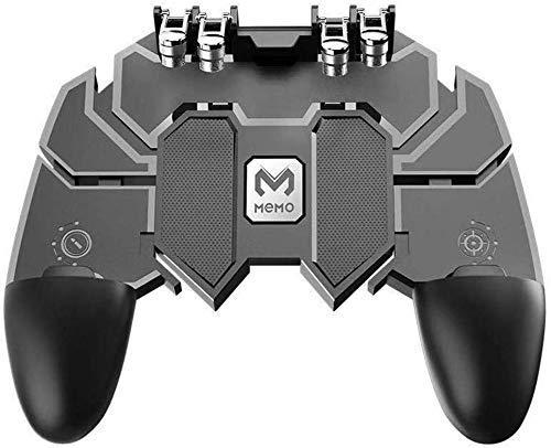 SPYKART AK66 6 Finger All-in-One PUBG Mobile Remote Controller Gamepad -Black (Multi-Coloured)