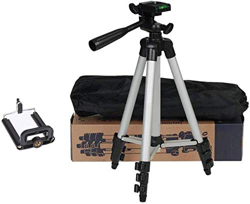 esportic 3110 Tripod Portable and Foldable Camera - Tripod with Mobile Clip Holder Bracket, Stand with 3-Dimensional Head (Black)