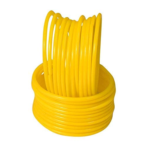 The Maruti Shop Yellow plain Glass Bangles (Pack Of 24)