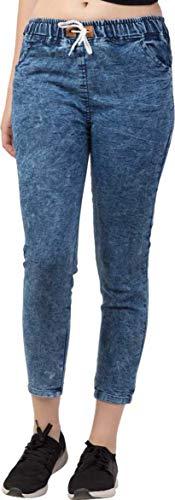 Rafflesia Tolpis Jogger Fit Women Dark Blue Jeans (Small)