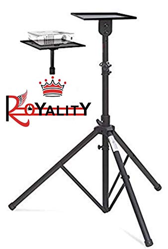 ROYALITY Projector Floor Stand Min.4ft - Max 6ft Adjustable from The Ground with Grip Belt