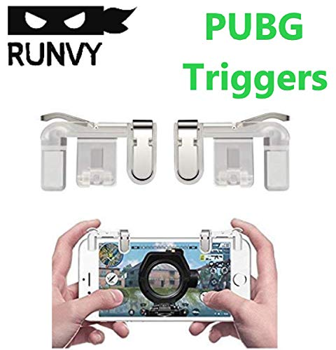 Runvy PUBG Phone Gamepad Metal Trigger Fire Button Aim Key Smart Phone Mobile Games L1R1 Shooter Controller Triggers