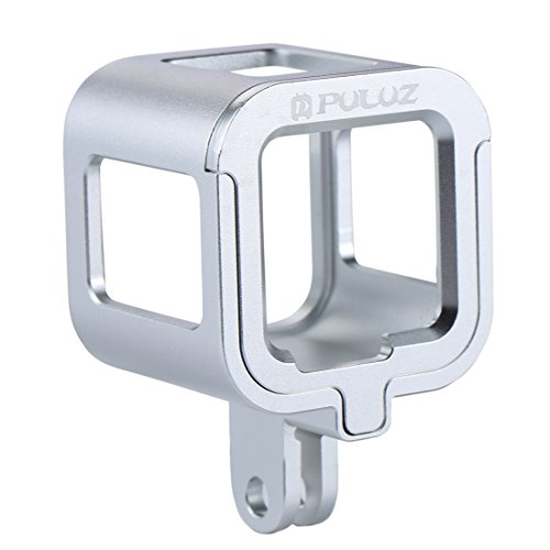PULUZ Housing Shell CNC Aluminum Alloy Protective Cage with Insurance Frame for GoPro HERO5 Session /HERO4 Session/Hero Session(Silver)