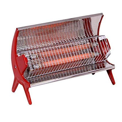 Ekam Steel 2 Rod Room Heater (27-inch, Silver and Red)