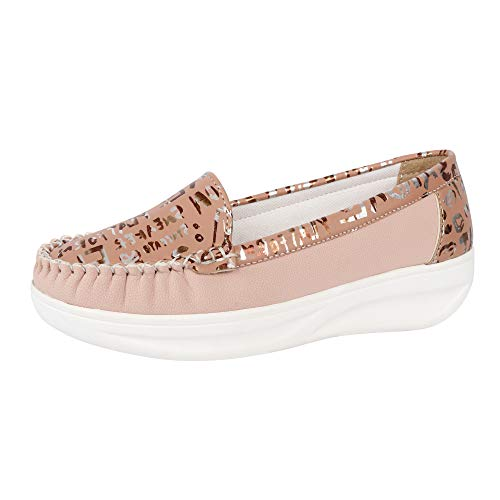 FASHIMO Women's Loafers Bellies MS88-pink-39