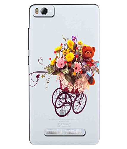 Snooky Printed Teddy Flower Mobile Back Cover of Xiaomi Redmi Mi4i - Multicolour