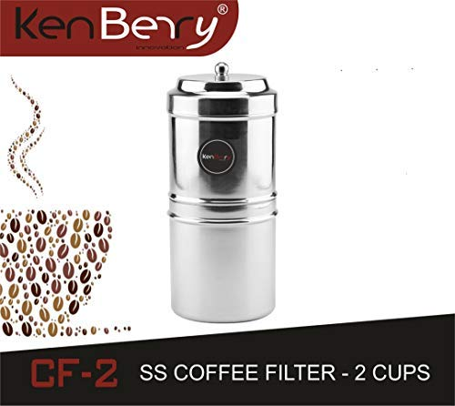 KenBerry Stainless Steel Coffee Filter, 2 Cups, 150 ML