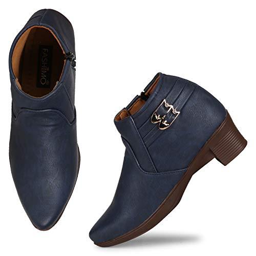FASHIMO Women's Zipper Boots zip02-blue-39