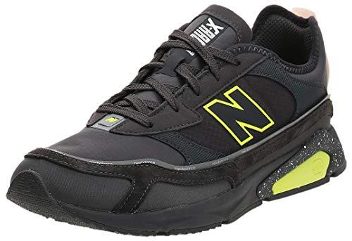 new balance Men's X-Racer Multicolour (Magnet/Castlerock/Lemon Slush) Running Shoe-9 UK (MSXRCHSA)