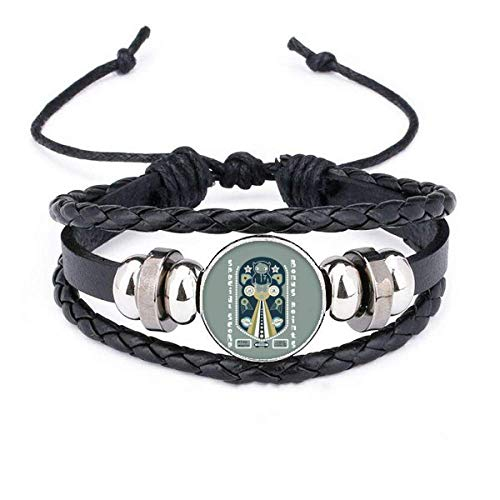 DIYthinkerUniverse and Alien Monster Bracelet Braided Leather Woven Rope Wristband