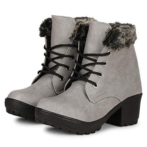 FASHIMO Women's Furr Boots PR3-grey-36