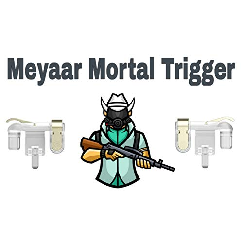 Meyaar Mortal DP28 Pubg Trigger for Pubg Mobile ● PUBG Mobile Controller Trigger ● Claw Specialist ● for All Android and iOS Devices (DP28)