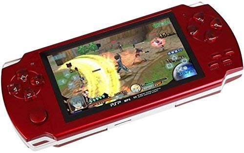 RFV1(tm)PSP Game Console with 10000 Games, Music, Alarm, Calculator, Camera, SD Card Slot And 1 Set Earphone,Red