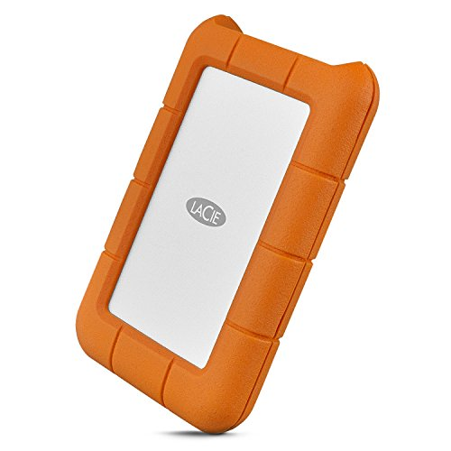 LaCie Rugged 2TB USB-C and USB 3.0 Portable Hard Drive + 1mo Adobe CC All Apps (STFR2000800)