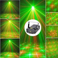 INGLIS LADY WITH DEVICE OF FACE OF LADY WITH CROWN Poveria 8 Multi-Patterns Red and Green LED Light Sound Activated Projector Lights