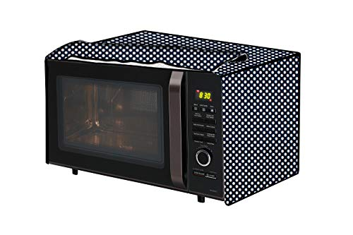 The Furnishing Tree Microwave Oven Cover for Godrej 19 L Convection GMX 519 CP1 Polka dot Pattern Navy
