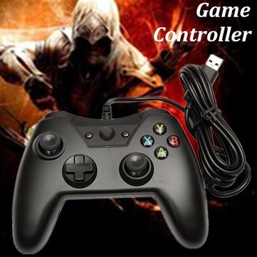 GENERIC Wire USB Port Game Joystick Controller Black For Laptop PC Games Xbox One