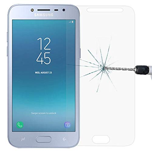 ZCLINXHEFSDSS Mobile Phone Tempered Glass Film for Galaxy J2 Pro (2018) 0.26mm 9H Surface Hardness 2.5D Explosion-Proof Tempered Glass Screen Film