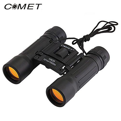 Eventivation Comet 10 x 25 Portable Folding Binoculars for Outdoor Activity Portable Telescope Binoculars Lightweight Magnification Prism