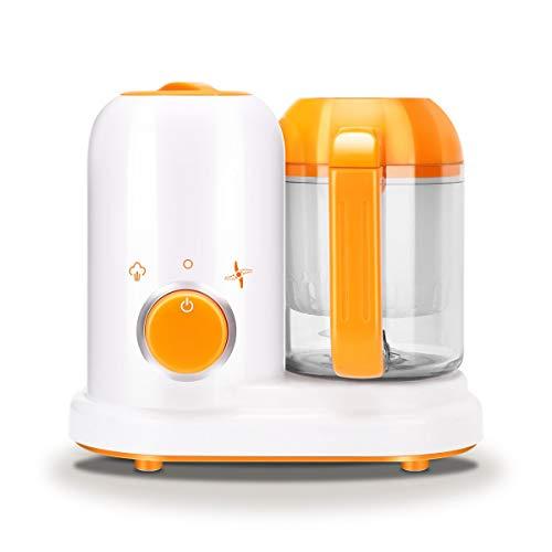 Flipco Portable Baby Pure Food Processor Steamer Blender; All in One Unit; True Time-Saving; Mini Maker Kit Machine Manual (White)