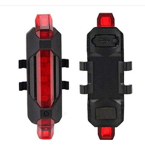 Oblivion Rechargeable Bicycle Front Waterproof LED Light (Red)