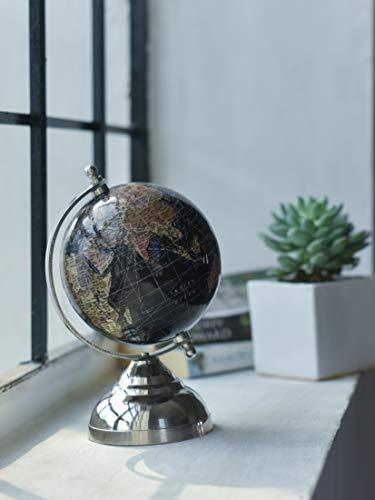 "CASADECOR Fermi Zone Black Sea World Globe for Kids | 5"" Desktop Globe with Metal Stand | by"