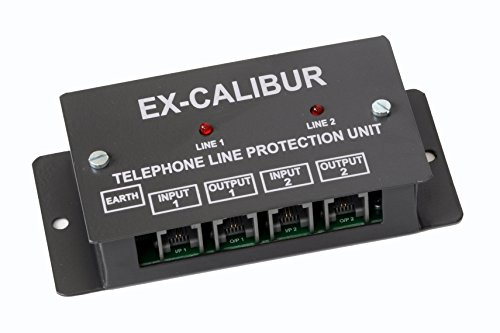 EX-CALIBUR SYSTEMS 2 Port - EX-Calibur Telephone LINE Surge Protector with LED Indication