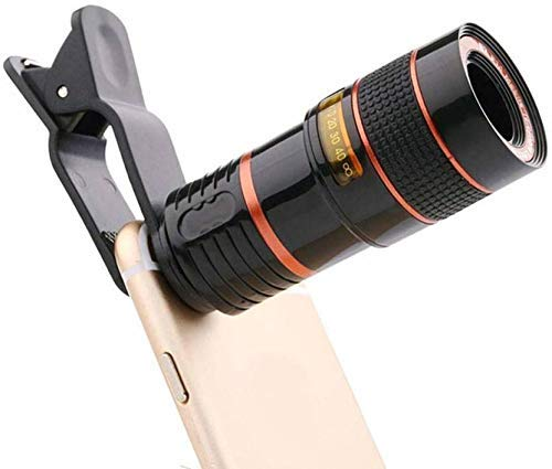 Sprinto HQ8X Universal Lens for All Type of DSLR Cameras & Smartphones with Multi Features Like Blur Background Effect|Universal Clip Holder|Pan & Zoom| Compatible with All Upcoming Smart Devices