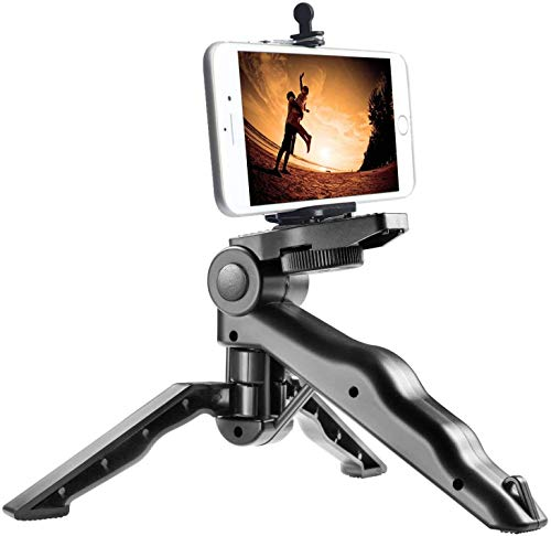 LKMO ® Pistol Tripod with Universal Mobile Attachment Compatible with All Smartphones, Action and DSLR Camera's Use for Videography Photography Youtube (Black)