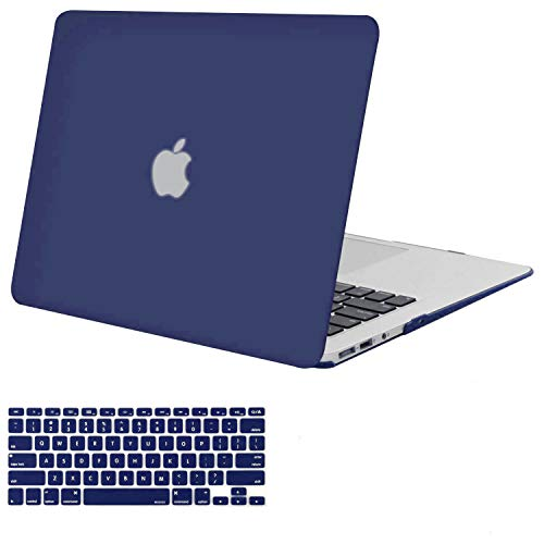 Styleys Hard Shell Case & Keyboard Cover Compatible MacBook Air 13 Inch Models A1466 / A1369 (S11064 - Navy Blue)