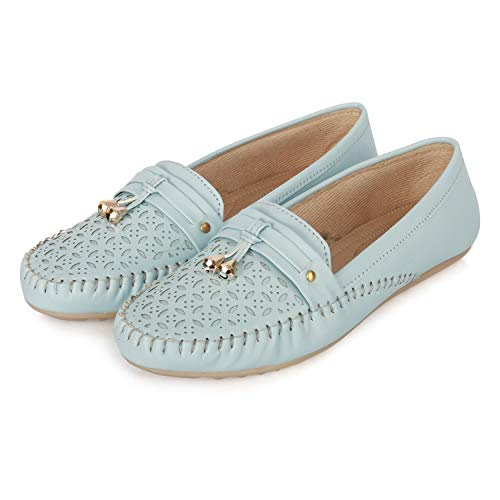 FASHIMO Women's Loafers Bellies MS12-Sky-39