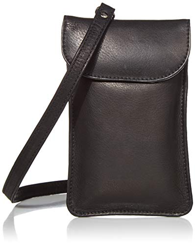 Piel Leather Smartphone Hanging Case, Black, One Size
