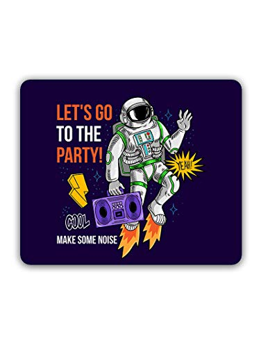 Madanyu Designer Mousepad Non-Slip Rubber Base for Gamers - HD Print - Lets Go to The Party with Astronuts