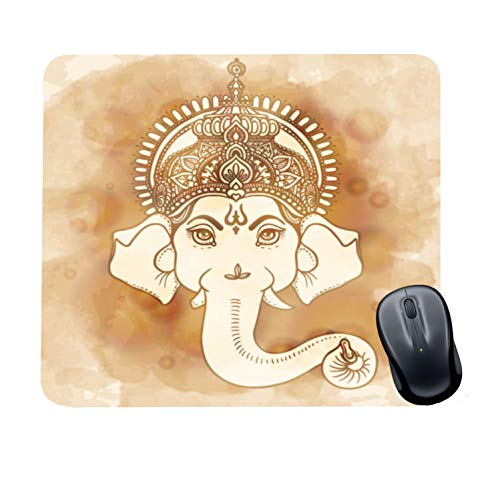 Family Shoping Year Gifts Item Office Printed Lord Ganesha Mousepad for Computer, PC, Laptop, White
