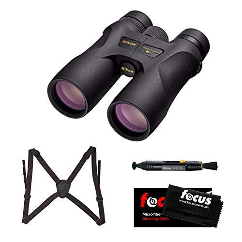 Nikon 16003 PROSTAFF 7S 10x42 Binocular (Black) Accessory Bundle
