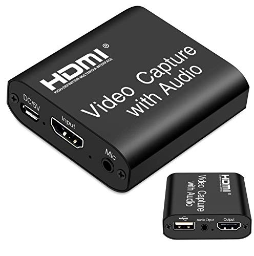 Microware Video and Game Capture Card with Audio & Loop (HDMI Video Capture with Audio)