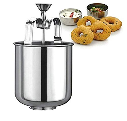Generic Stainless Steel MEDUVADA Maker for Perfectly Shaped & Crispy Medu Vada, Hygienic Without Any Hassle.