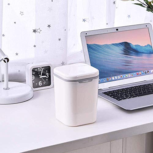 Jukkre Desktop Waste Bins Trumpet Desktops Mini Creative Covered Kitchen Living Room,Rolling Cover Type Desktop Waste Bins Trumpet Desktops Mini Creative Covered Trash Can Type Desktop Dustbin