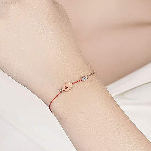 ELECTROPRIME 2D46 Women Bracelet Red Rope Copper Fashion Cute Bracelet Bangle Pig