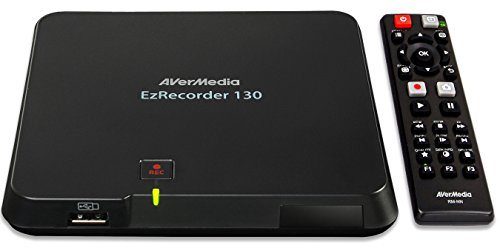 AVerMedia EzRecorder 130 - High Definition 1080p Real-Time HDMI Digital Video Recorder, PVR, DVR, Schedule Recording, Recording Format MP4 (H.264/AAC) Supported, Light and Portable, User-friendly Set-up System - 1 USB only Required (ER130)