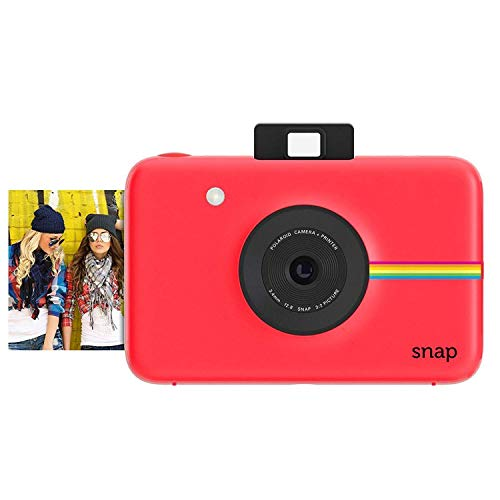 Polaroid Snap Instant Digital Camera (Red) with Zink Zero Ink Printing Technology