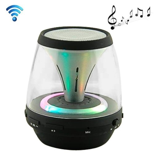 Generic Fashionable Magic Lamp Mini Bluetooth V2.0 Speaker, Support Tf Card / Fm Radio (Black)