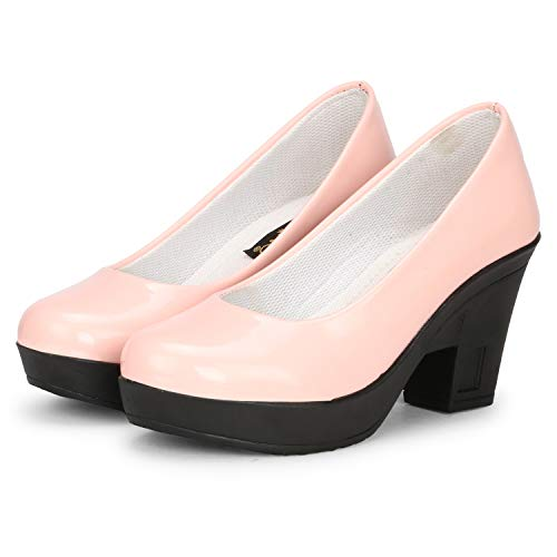 FASHIMO Women's Heels Bellies PN8-lightpink-40