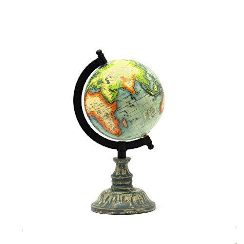 "CASADECOR Fermi Zone Green Sea World Globe for Kids | 5"" Desktop Globe with Wooden Stand | by Casa Decor"