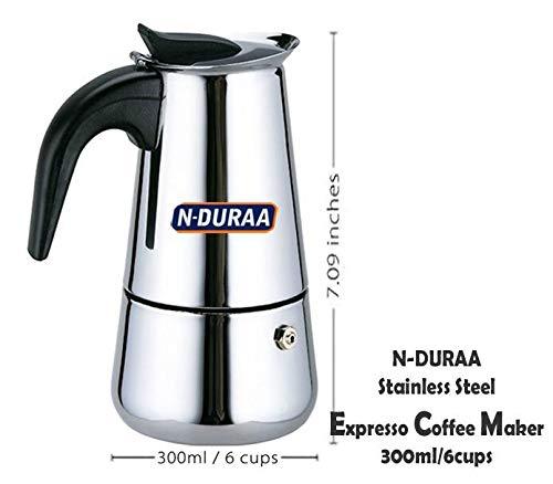 N-Duraa Coffee Perculator Stainless Steel 6 Cup