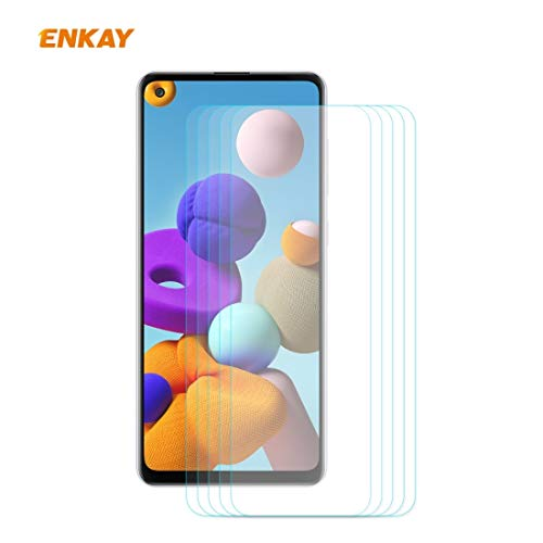 ZCLINXHEFSDSS Mobile Phone Tempered Glass Film for Samsung Galaxy A21s 5PCS Hat-Prince 0.26mm 9H 2.5D Curved Edge Tempered Glass Film