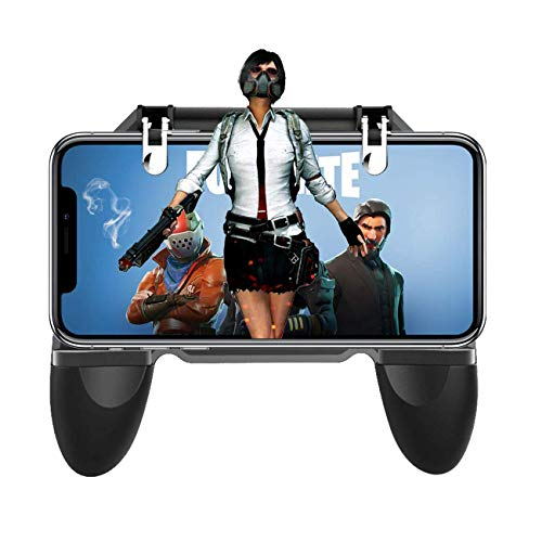 ICALL Presenting W10 Mobile Game PUBG Controller Key Grip Gaming Joysticks Gamepad for 4.5-6.5inch Android iOS Compatible Phone (Black)